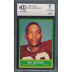 1963 Topps #14 Jim Brown (BCCG 7)
