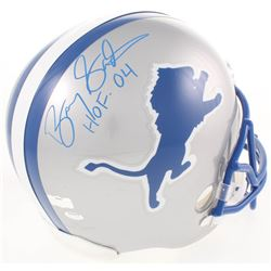 "Barry Sanders Signed Detroit Lions Full-Size Throwback Helmet Inscribed ""HOF 04"" (Radtke COA)"