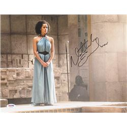 "Nathalie Emmanuel Signed ""Game of Thrones"" 11x14 Photo Inscribed ""XOX"" (PSA COA)"