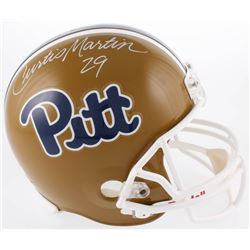 Curtis Martin Signed Pittsburgh Panthers Full-Size Helmet (Radtke COA)