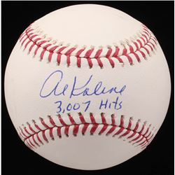 "Al Kaline Signed OML Baseball Inscribed ""3,007 Hits"" (JSA COA)"