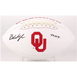 "Baker Mayfield Signed Oklahoma Sooners Logo Football Inscribed ""17 HT"" (Beckett COA)"
