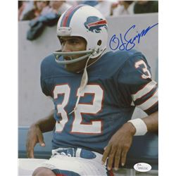 O. J. Simpson Signed Buffalo Bills 8x10 Photo (JSA COA)