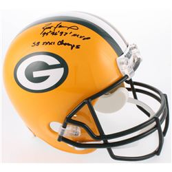 "Brett Favre Signed Green Bay Packers Full-Size Helmet Inscribed ""'95 '96 '97 MVP""  ""SB XXXI Champs"""
