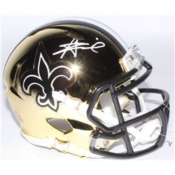 Alvin Kamara Signed New Orleans Saints Chrome Speed Mini Helmet (Beckett COA)