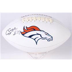 Courtland Sutton Signed Denver Broncos Logo Football (JSA COA)