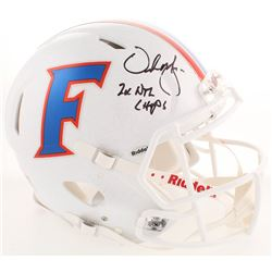 """Urban Meyer Signed Florida Gators Full-Size Authentic On-Field Speed Helmet Inscribed """"2x NTL Champs"""
