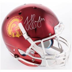 JuJu Smith-Schuster Signed USC Trojans Custom Chrome Full-Size Helmet (Radtke COA)