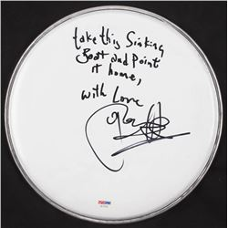 "Glen Hansard Signed Drum Head Inscribed ""Take This Sinking Boat and Point It Home""  ""With Love"" (PSA"
