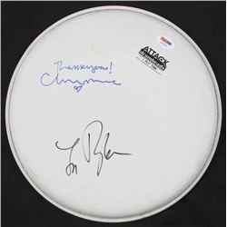 "Lindsey Buckingham  Christine McVie Signed Drum Head Inscribed ""Thank You!"" (PSA COA)"