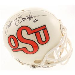 Barry Sanders Signed Oklahoma State Cowboys Full-Size Authentic On-Field Helmet (Beckett COA)