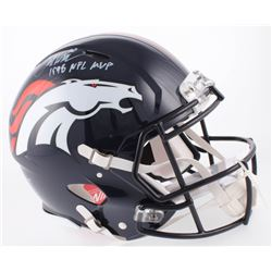 "Terrell Davis Signed Denver Broncos Full-Size Authentic On-Field Speed Helmet Inscribed ""1998 NFL MV"