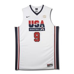 "Michael Jordan Signed LE Team USA Jersey Inscribed ""2009 HOF"" (UDA COA)"