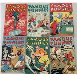 """Lot of (6) 1946 """"Famous Funnies"""" Comic Books with #138-143"""