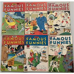 """Lot of (6) 1947-1948 """"Famous Funnies"""" Comic Books with #158-160, #162  #164-165"""