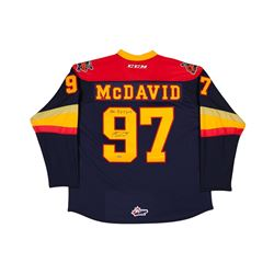 """Connor McDavid Signed Erie Otters Jersey Inscribed """"OHL R.O.Y 2013"""" (UDA COA)"""
