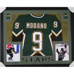 Mike Modano Signed 35x43 Custom Framed Jersey (JSA COA)