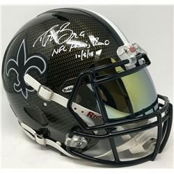 Drew Brees Signed New Orleans Saints Full-Size Authentic On-Field Hydro Dipped Speed Helmet with Vis