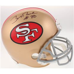 Jerry Rice Signed San Francisco 49ers Throwback Full-Size Helmet (Beckett COA)