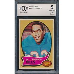 1970 Topps #90 O.J. Simpson (BCCG 9)