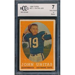 1958 Topps #22 Johnny Unitas (BCCG 7)