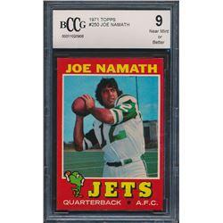 1971 Topps #250 Joe Namath (BCCG 9)