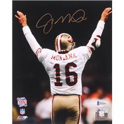 Joe Montana Signed San Fransisco 49ers 8x10 Photo (Beckett COA)