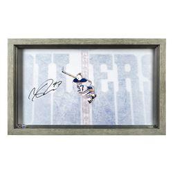 "Connor McDavid Signed Edmonton Oilers ""Great from Avove"" 18.5x30.5 Custom Framed Acrylic Display (UD"