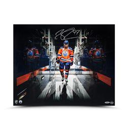 "Connor McDavid Signed Edmonton Oilers ""Tunnel Vision"" 16x20 Photo (UDA COA)"