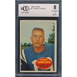 1960 Topps #1 Johnny Unitas (BCCG 8)