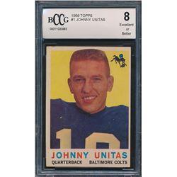 1959 Topps #1 Johnny Unitas (BCCG 8)