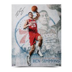 "Ben Simmons Signed Philadelphia 76ers ""All Systems Go"" 16x20 Photo (UDA COA)"