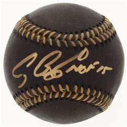 "Craig Biggio Signed Black Leather OML Baseball Inscribed ""HOF 15"" (TriStar Hologram)"