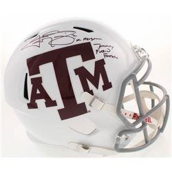 Johnny Manziel Signed Texas AM Aggies Full-Size Speed Helmet With Multiple Inscriptions (Beckett COA