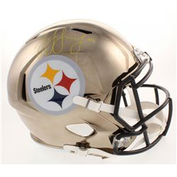 JuJu Smith-Schuster Signed Pittsburgh Steelers Full-Size Chrome Speed Helmet (JSA COA)