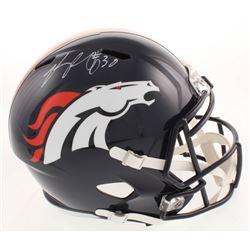 Phillip Lindsay Signed Denver Broncos Full-Size Speed Helmet (JSA COA)