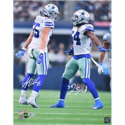 Leighton Vander Esch  Jaylon Smith Signed Dallas Cowboys 16x20 Photo (Beckett COA)