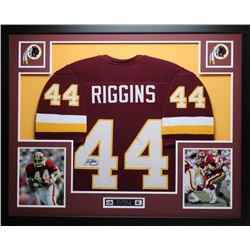John Riggins Signed 35x43 Custom Framed Jersey (JSA COA)