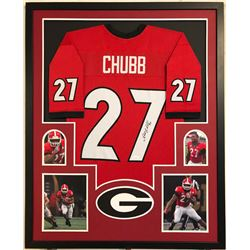 Nick Chubb Signed 34x42 Custom Framed Jersey (JSA COA)