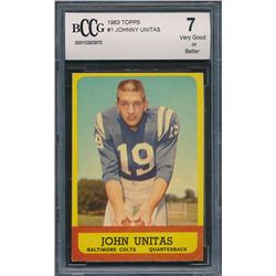 1963 Topps #1 Johnny Unitas (BCCG 7)