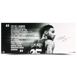 "Ben Simmons Signed Philadelphia 76ers ""Deliver"" 15x36 Limited Edition Photo (UDA COA)"