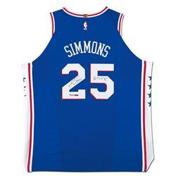 "Ben Simmons Signed Philadelphia 76ers Jersey Inscribed ""ROY 18"" (UDA COA)"