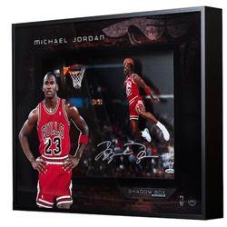 "Michael Jordan Signed Chicago Bulls ""1988 Gatorade Slam"" 16x20x2 Custom Framed Shadowbox Display (UD"