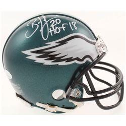 "Brian Dawkins Signed Philadelphia Eagles Mini Helmet Inscribed ""HOF 18"" (JSA COA)"
