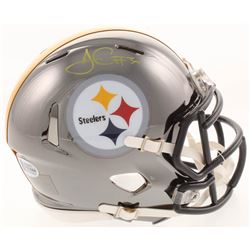 James Conner Signed Pittsburgh Steelers Chrome Mini Speed Helmet (Beckett COA)