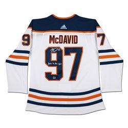 "Connor McDavid Signed Edmonton Oilers Limited Edition Jersey Inscribed ""2017-18 Art Ross"" (UDA COA)"