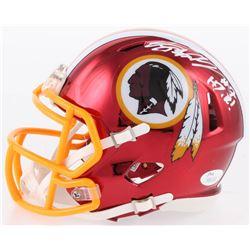 Dwayne Haskins Signed Washington Redskins Chrome Speed Mini-Helmet With Inscription (JSA COA)
