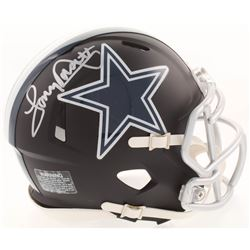 Tony Dorsett Signed Dallas Cowboys Matte Black Mini Speed Helmet (JSA COA)