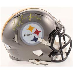 JuJu Smith-Schuster Signed Pittsburgh Steelers Chrome Mini Speed Helmet (JSA COA)