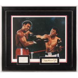 Muhammad Ali  George Foreman Signed 26.5x30.5 Custom Framed Cut Display (Beckett LOA  JSA COA)
